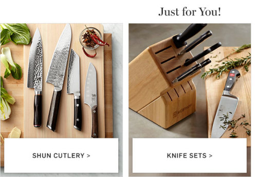 Williams Sonoma products sample