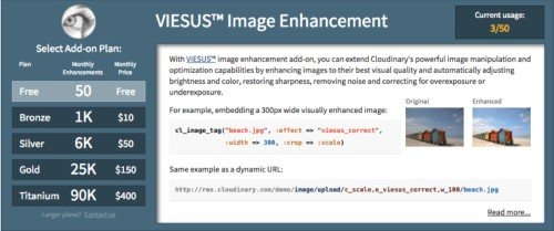 VIESUS automatic visual enhancement  add-on