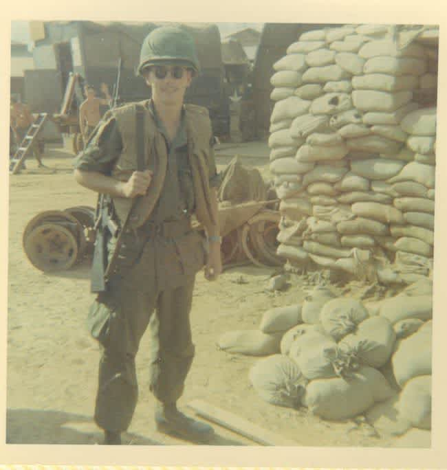 David Markham serving in Vietnam