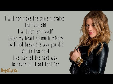 Kelly clarkson because of you words