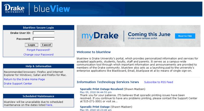 Drake blueview login