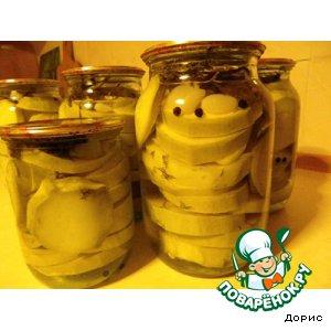 Рецепт: Кабачки, консервированные без уксуса