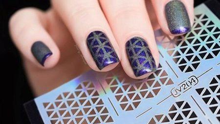 Трафареты для ногтей как сделать