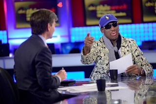 Dennis rodman with george stephanopoulos