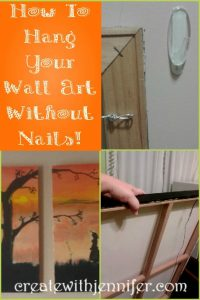 how to hang canvas art without nails