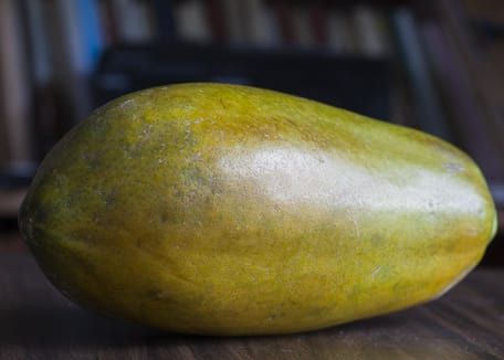 papaya fruit on a table