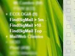 etiqueta los mensajes de correo que ocupan mas espacio
