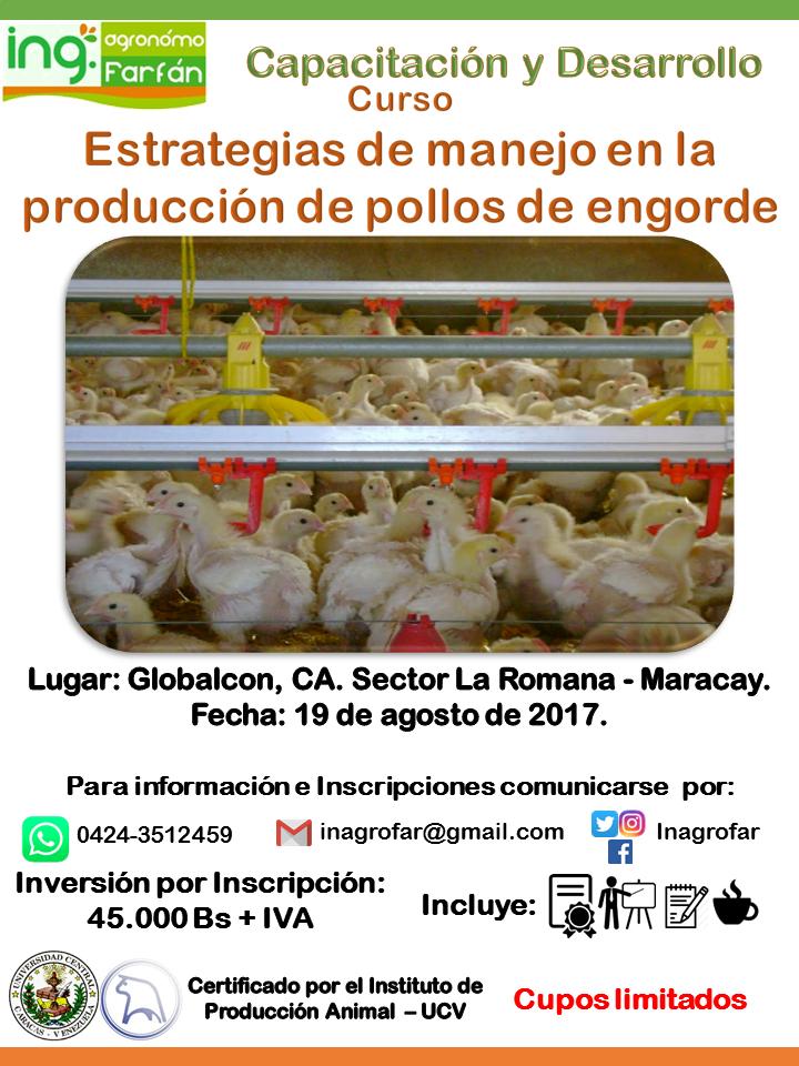 Curso: Estrategias de manejo en la producción de pollos de engorde