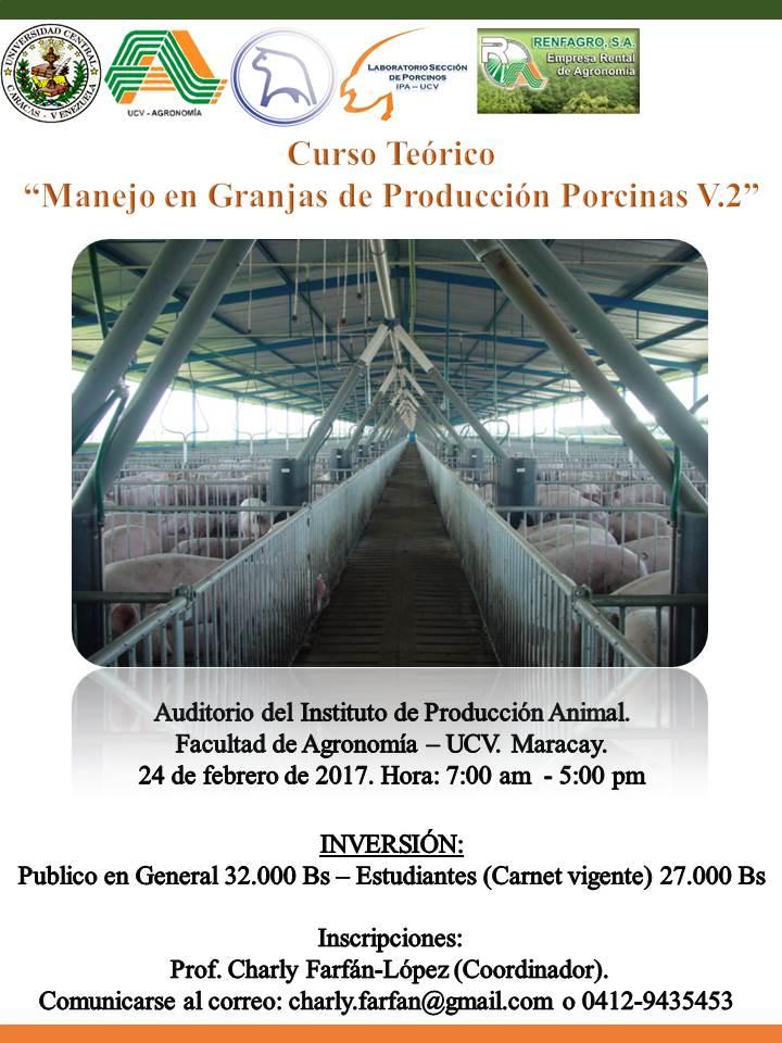 Afiche Curso Manejo en Granjas de Producción Porcina V.2
