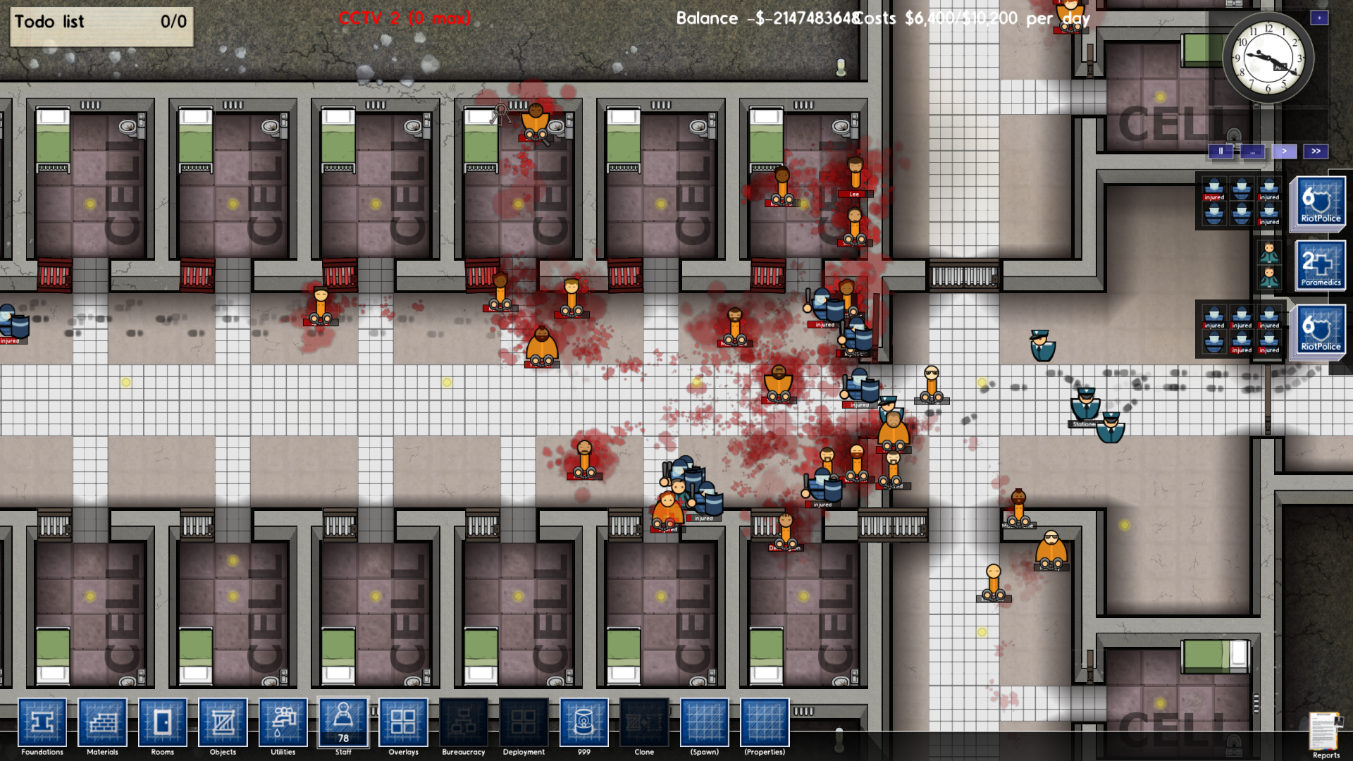Captura de pantalla de Prison Architect