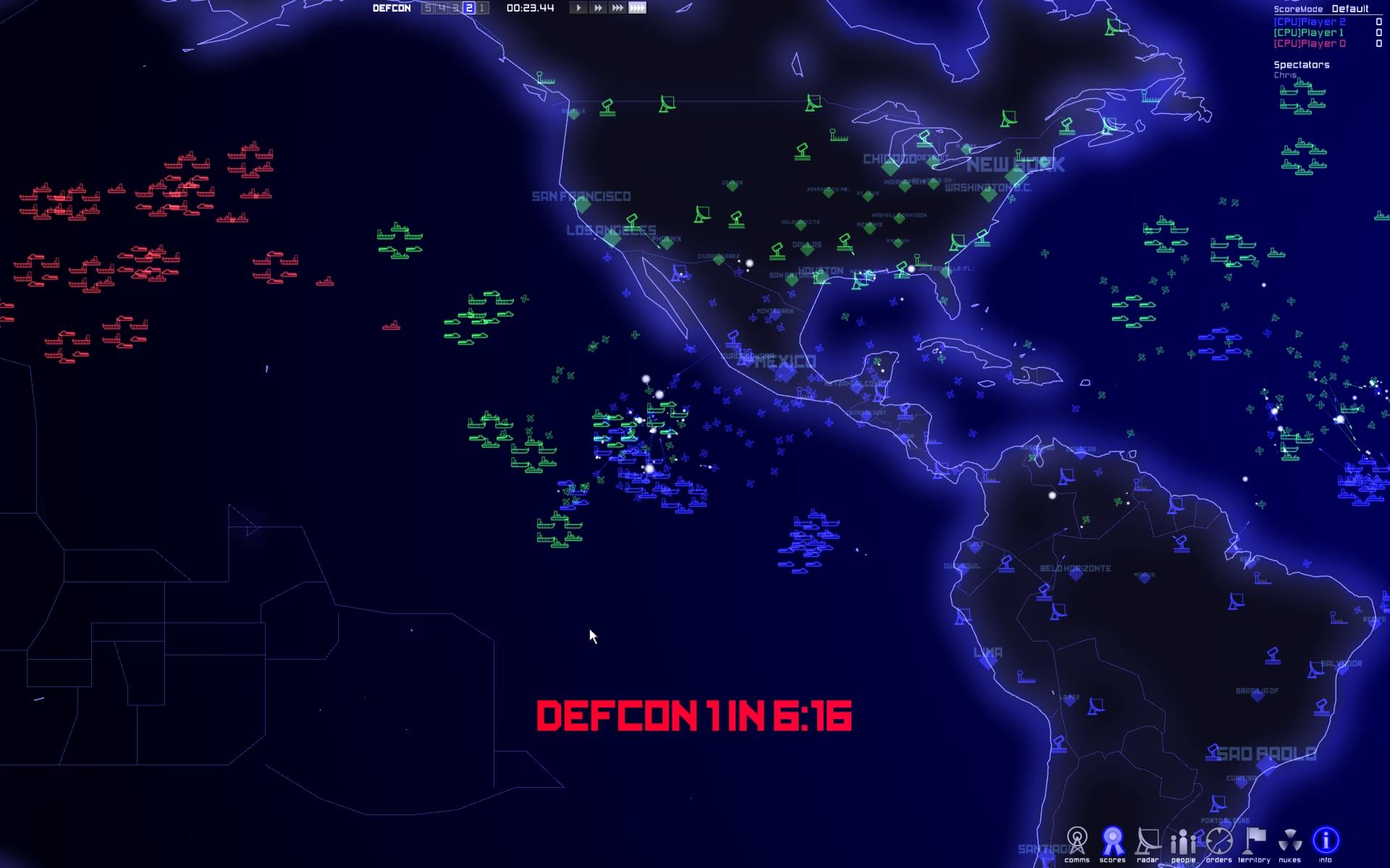 Captura de pantalla de Defcon