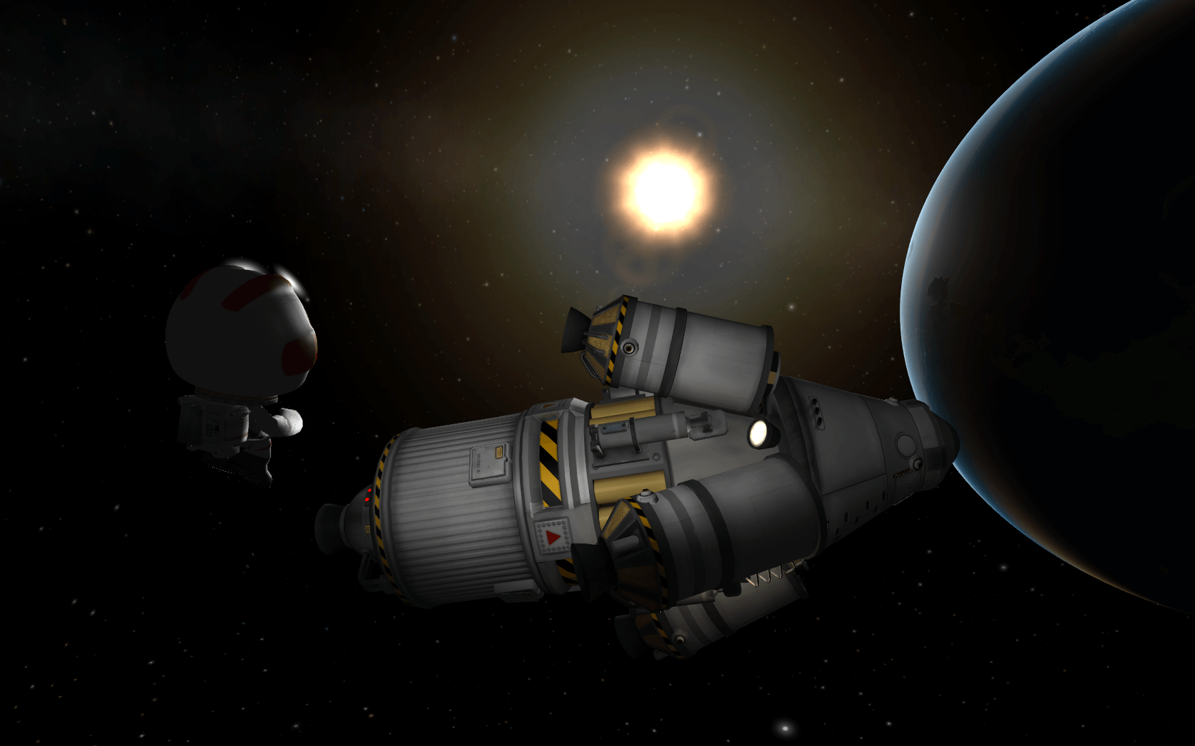 Captura de pantalla de Kerbal Space Program