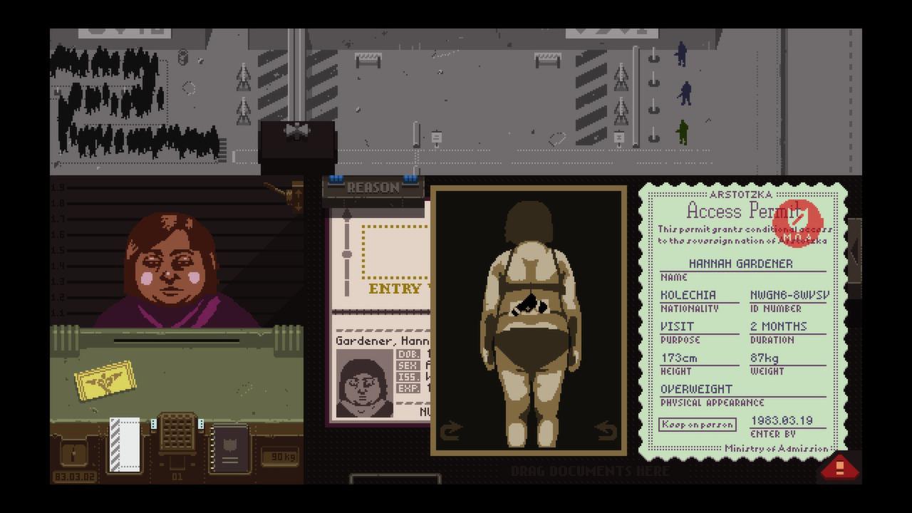 Captura de pantalla de Papers, Please