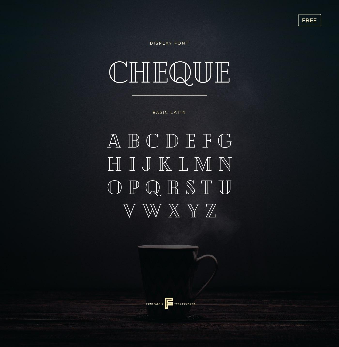 Шрифт с кириллицей Cheque