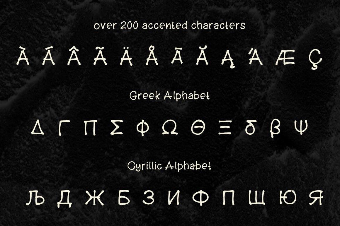 Прикольный шрифт из костей Skellyman