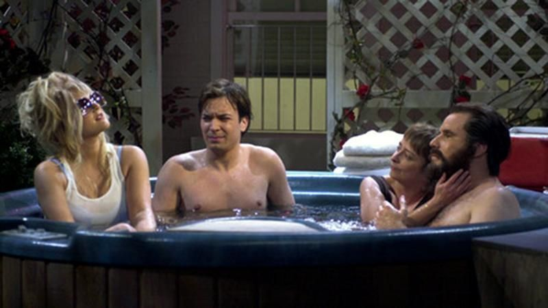 Snl hot tub lovers drew barrymore