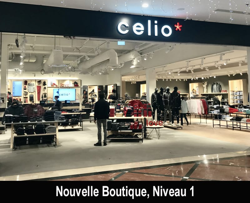 nouvelle boutique celio et celio club centre commercial r gional evry2. Black Bedroom Furniture Sets. Home Design Ideas
