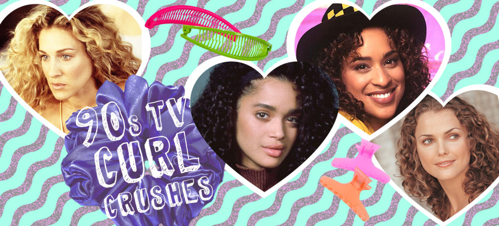 90's Celebrities with Curly Hair - Featured Hero Image