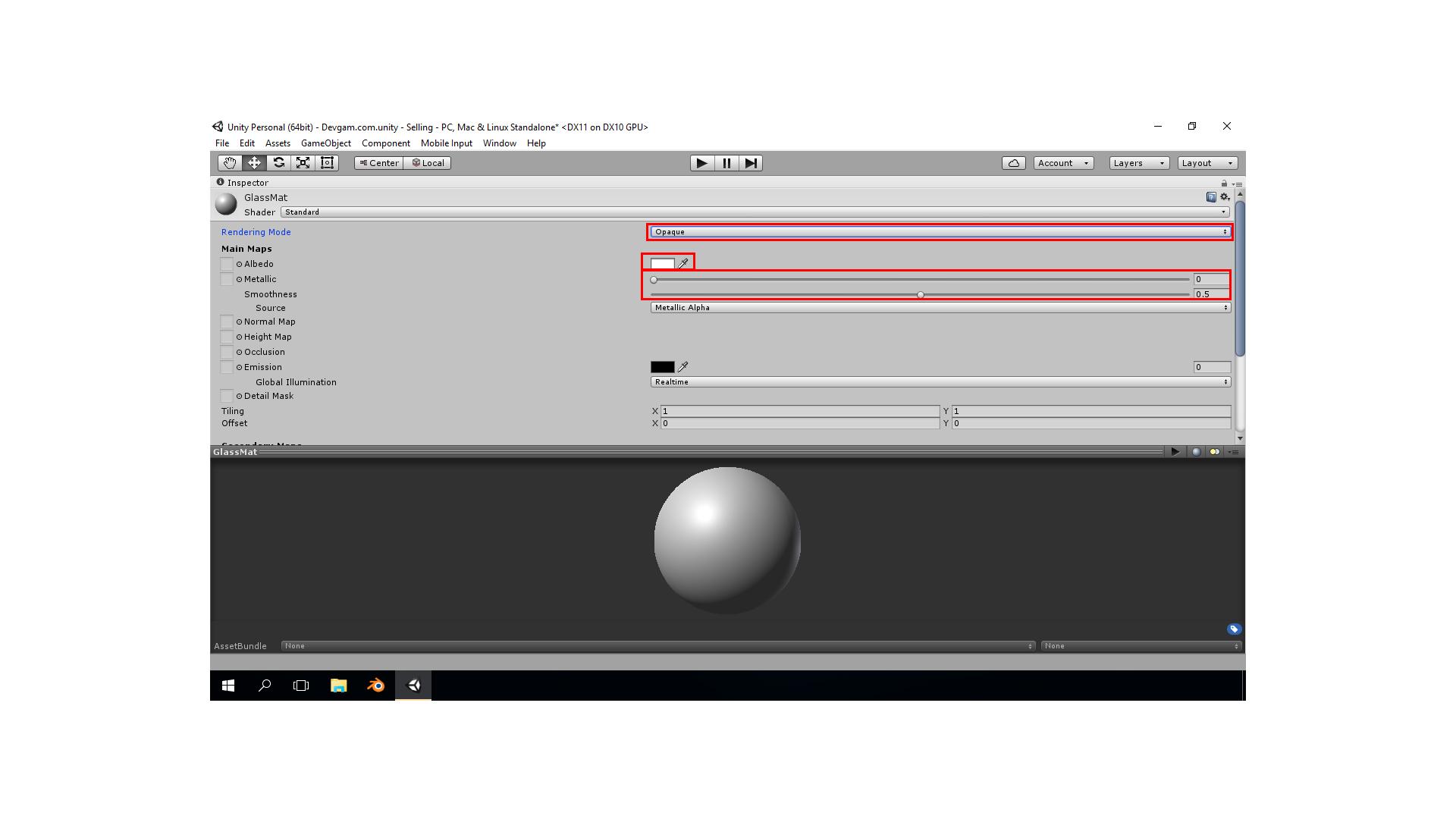 Прозрачность в Blender, Transparent Unity 5, Прозрачность Unity
