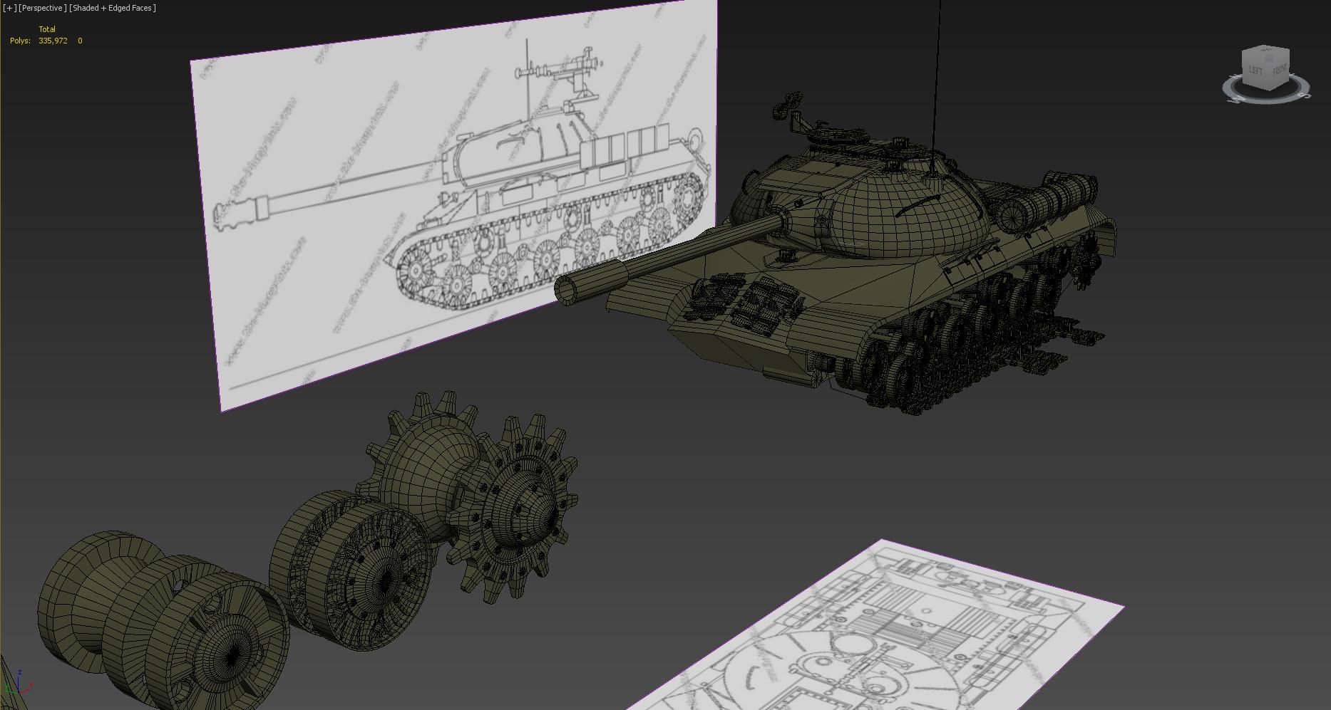 3ds max уроки, создание модели танка