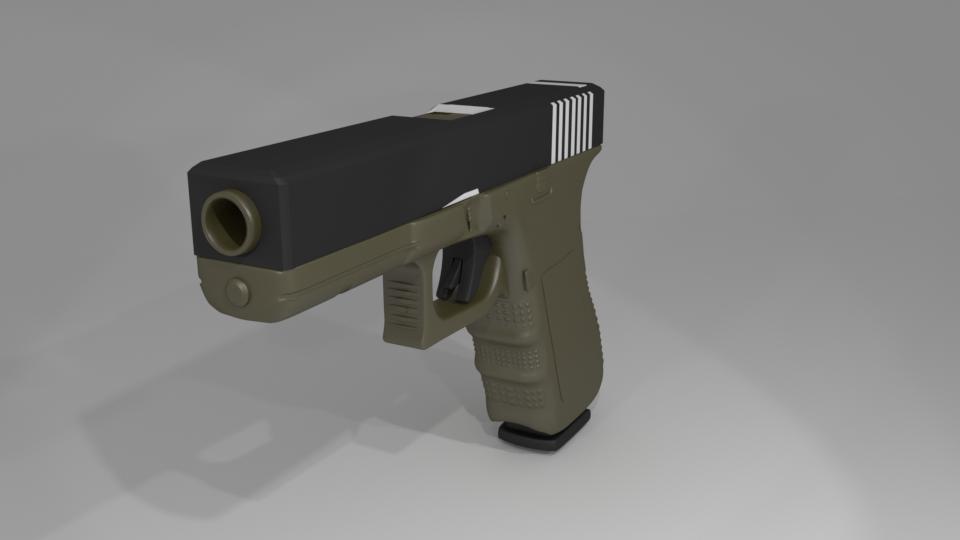 Unity 5 пистолет, Glock, моделирование, рендер, создание стрельбы, создание шутера, Unity3d, Unity 5