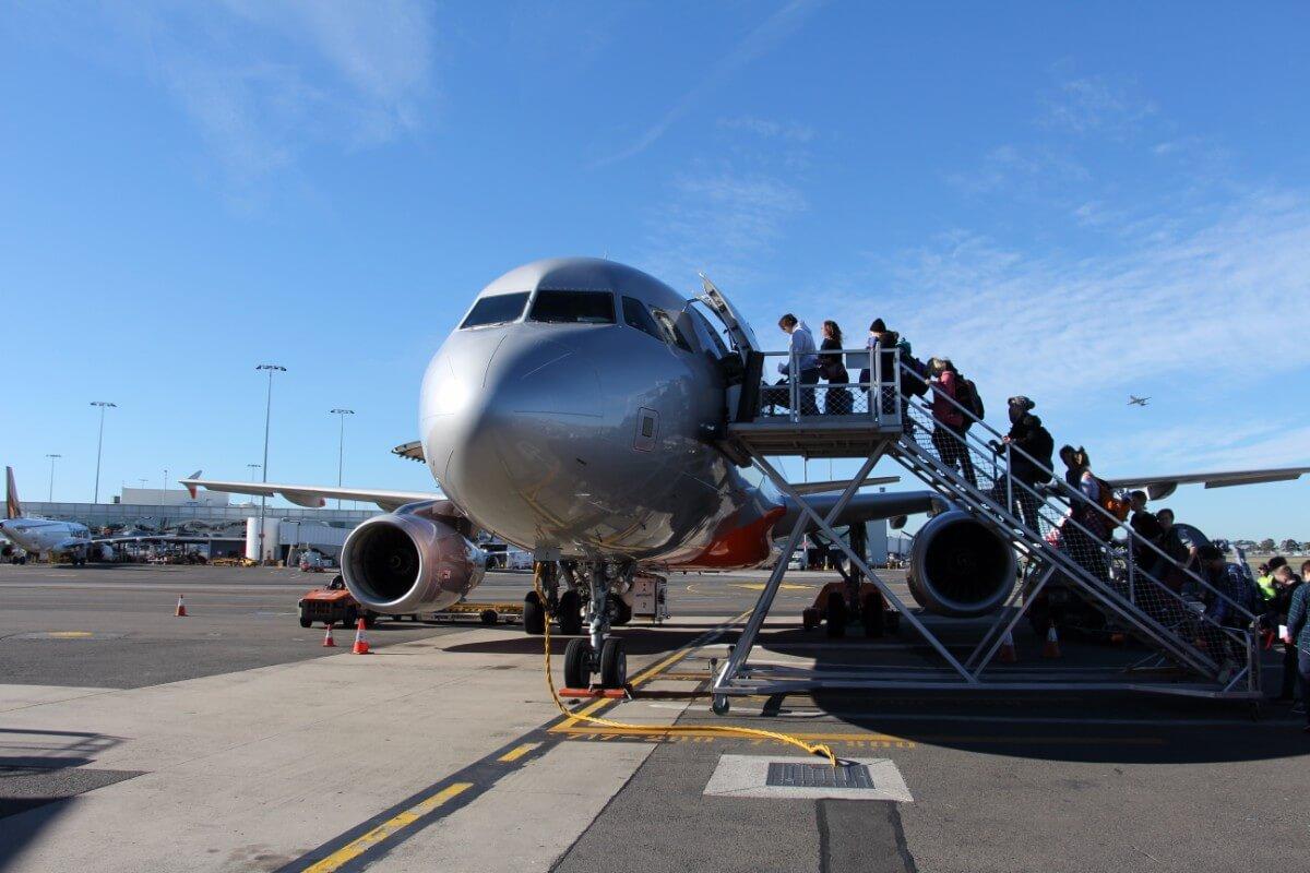 シドニー空港出発