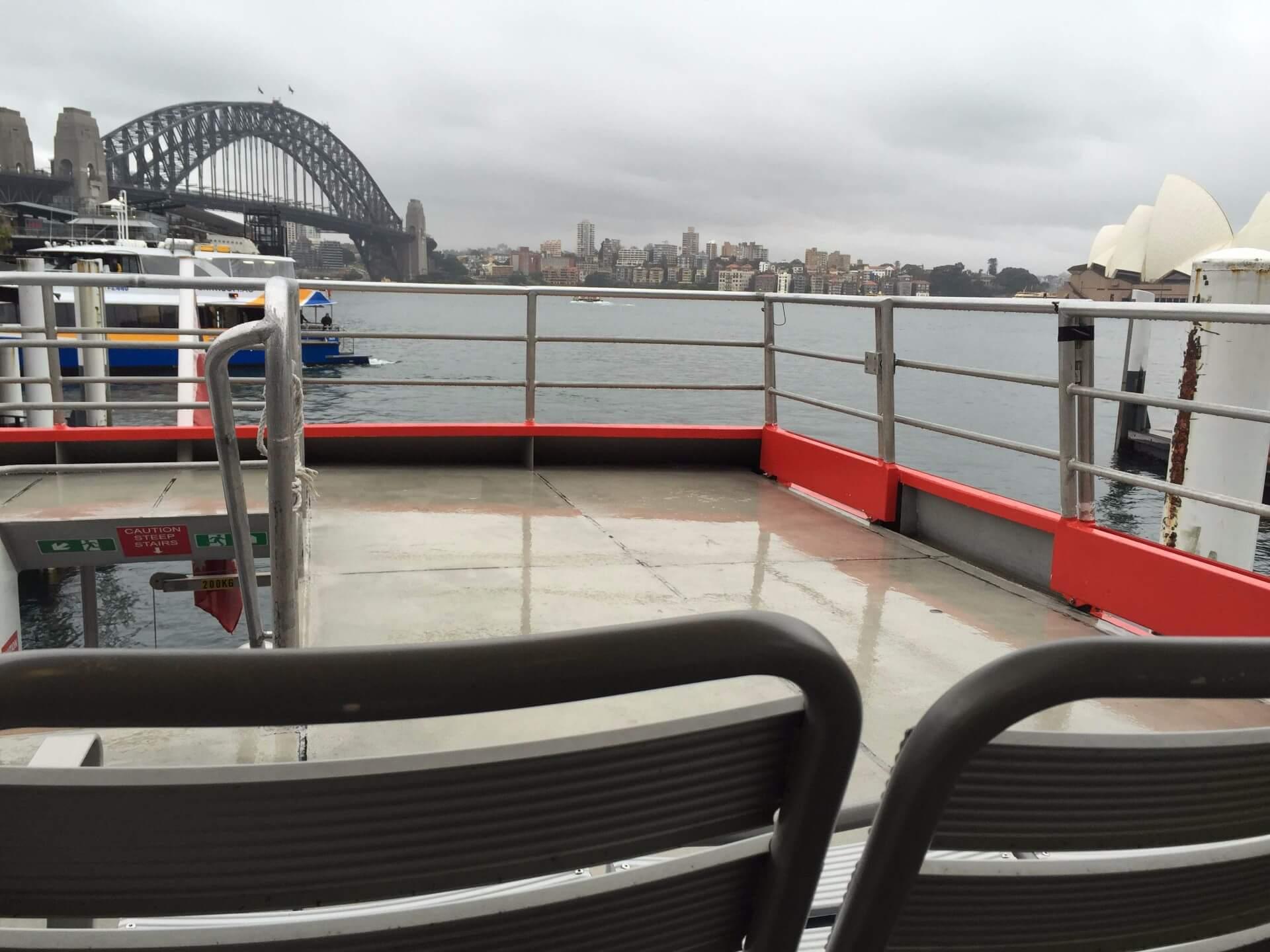 クジラクルーズに乗船して出港