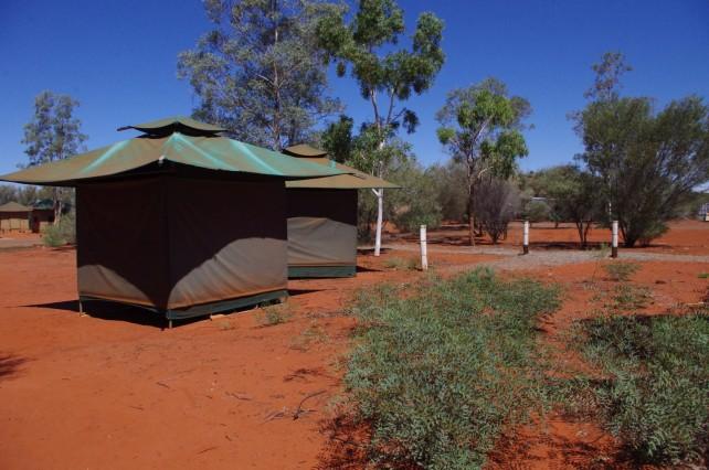 キャンプ場で宿泊