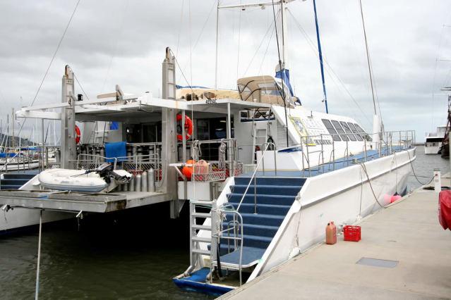 クルーズ船に乗船