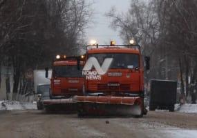 Выпавший снег в Ульяновске убирают 45 единиц спецтехники