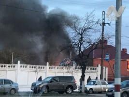 На улице Кирова сгорело два дома