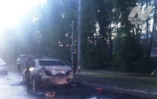 В Ленинском районе Ульяновска взорвался автомобиль