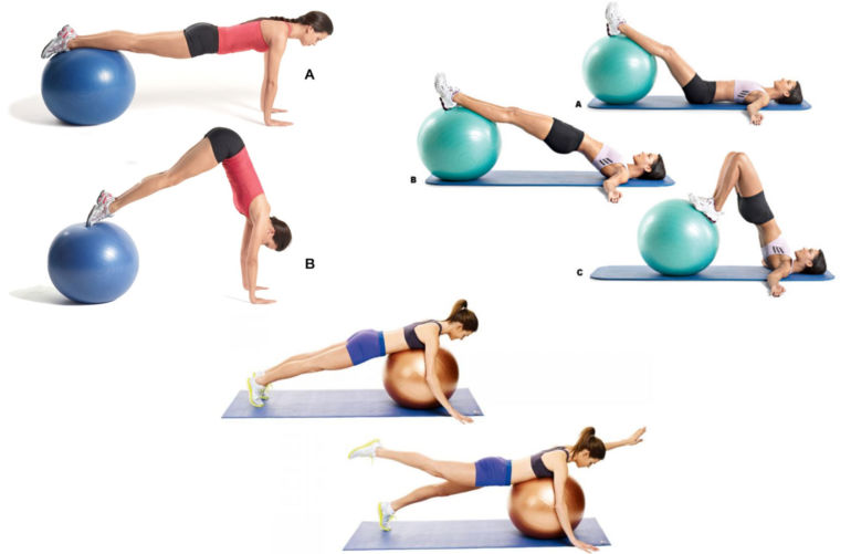Упражнения на мяче