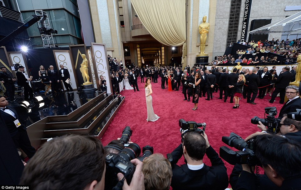All eyes on me: Jessica Biel takes centre stage on the carpet