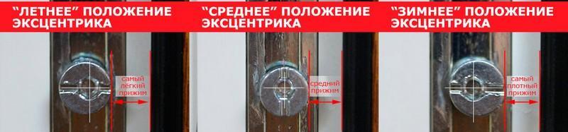 Зимний режим балконной двери