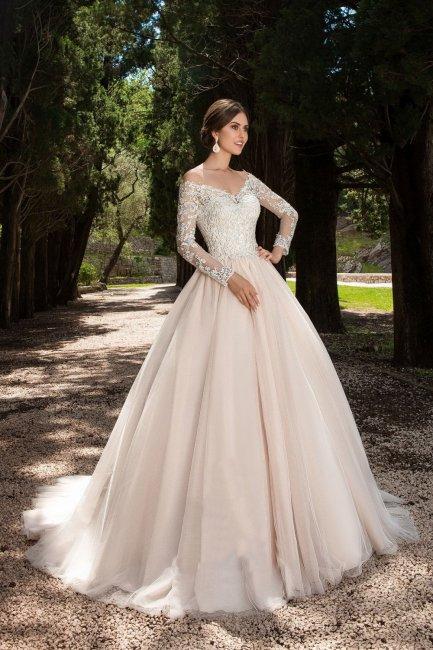 Омбре свадебное платье