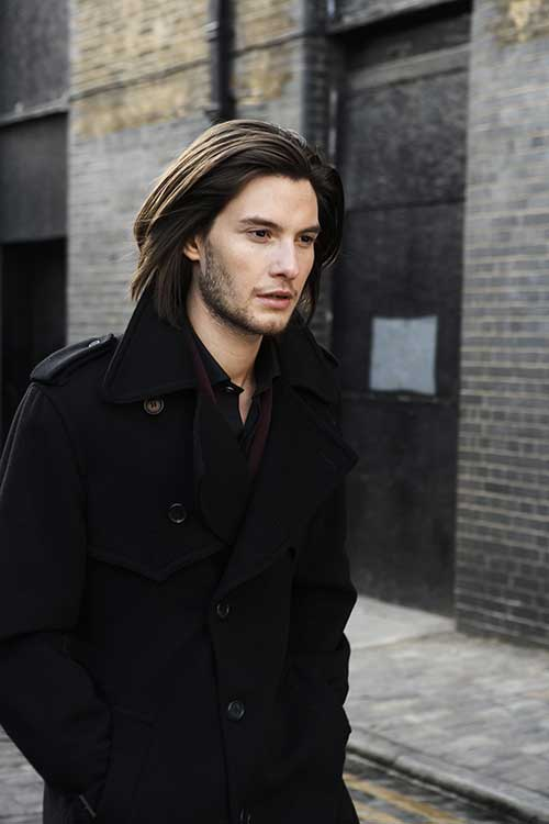 Ben Barnes Long Hairstyle for Men