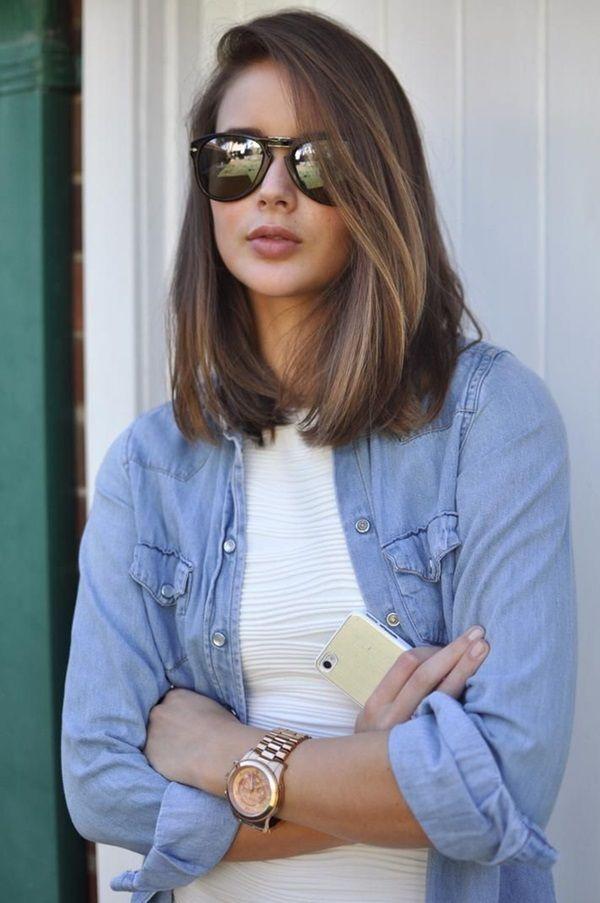Shoulder length hairstyles celebrities