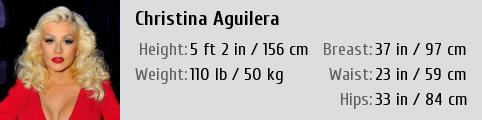 Christina aguilera's height
