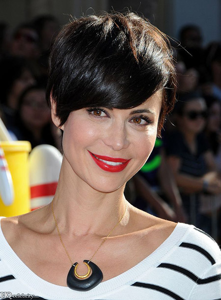 Catherine Bell's Lovely Messy Pixie Cut