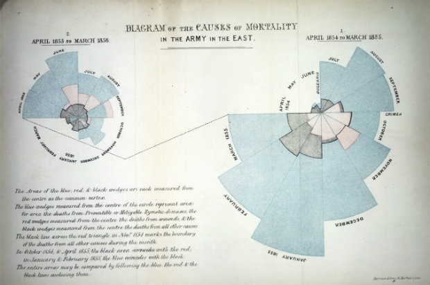 Diagram of the causes of mortality in the army in the east