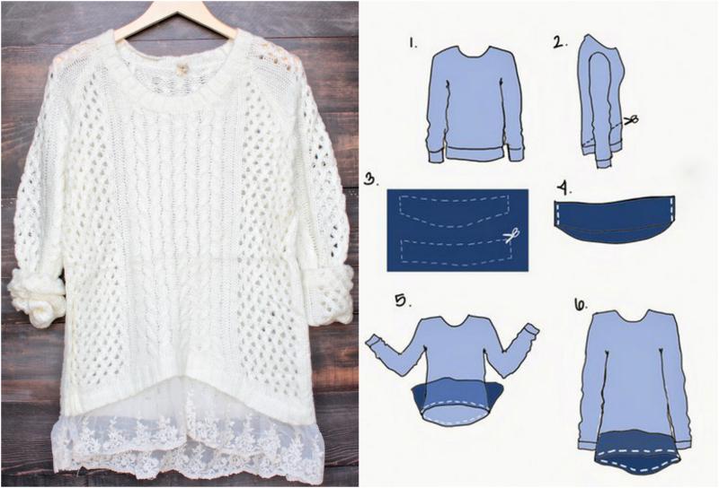 Переделать свитер