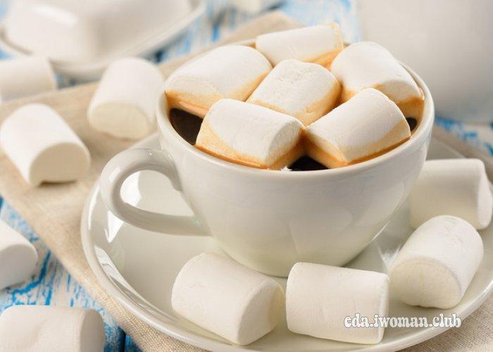 Зефир в горячем шоколаде