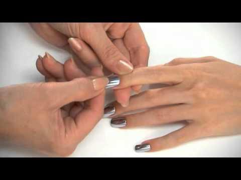 Dashing diva metallic nails