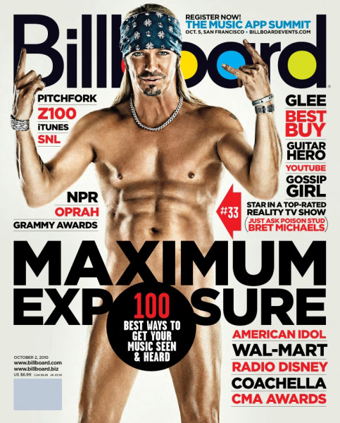 Bret michaels on the cover of billboard magazine