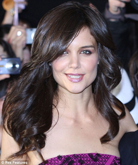 Katie holmes hair extensions 2012