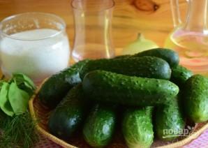 Как приготовить салат из огурцов зимний король