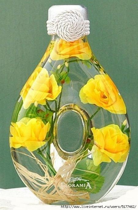 Консервирование цветов в глицерине в бутылке