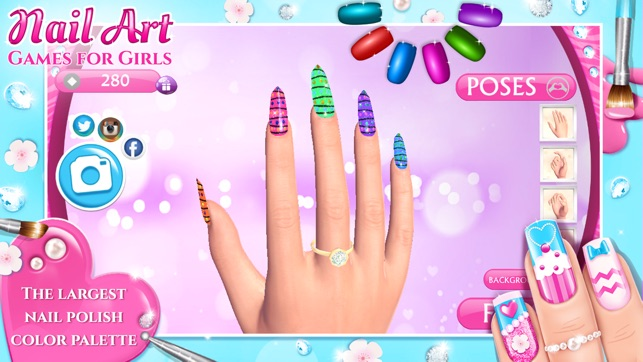 Nails for girls games