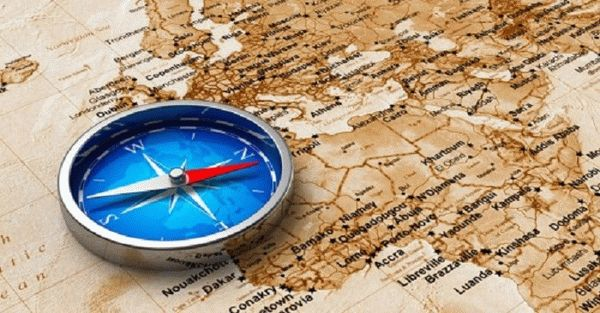 Где находится восток и запад на карте